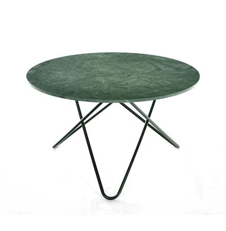 Big O table spisebord - Green indio/black steel fra OX DENMARQ