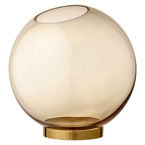 Vase Globe Amber/Gold L - AYTM