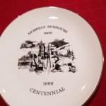 Centennial plate