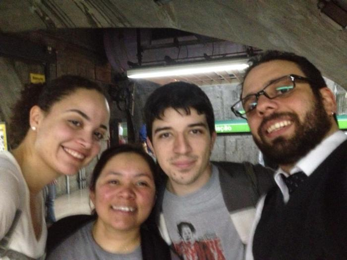 Areli, Vanessa, Chaves e Mario.