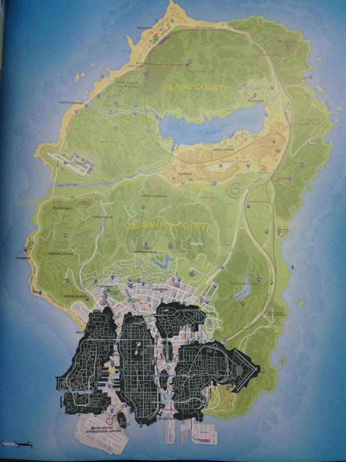 Comparação entre os mapas de GTA IV e GTA V