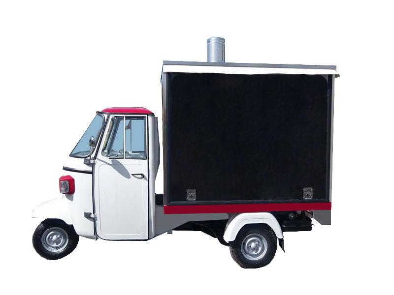 Wood fired mobile pizza oven - Piaggio Ape