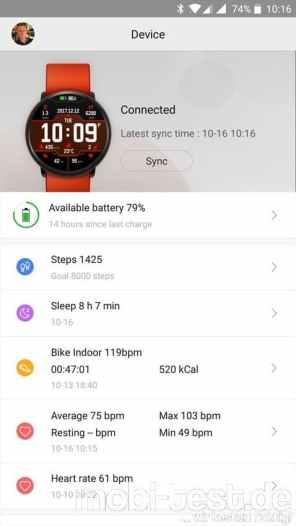 Xiaomi Amazfit Pace Screenshot (32)