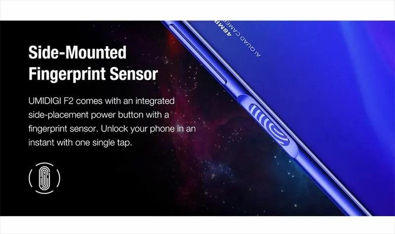 指紋認証はサイドの電源ボタンに搭載