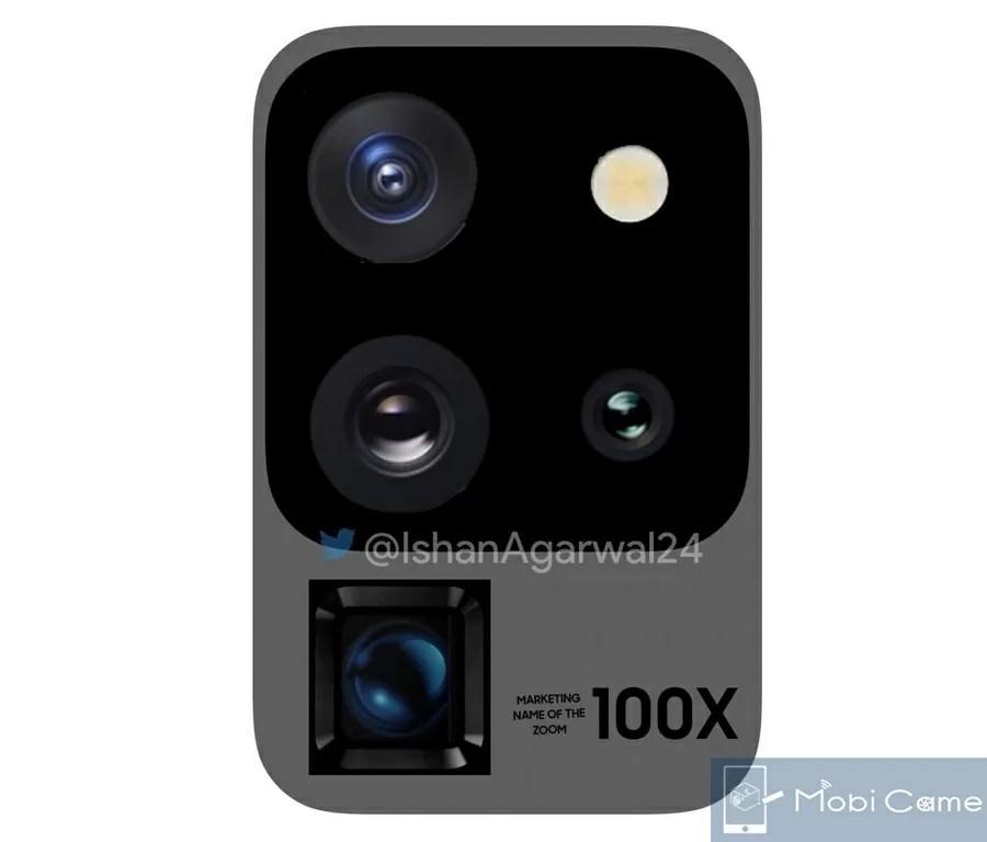 SamsungのGalaxy S20 Ultraはカメラに100倍ズームのスペースズーム搭載