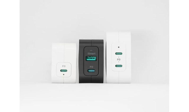 RAVPowerの窒化ガリウム(GaN)採用USB充電器サイズ比較