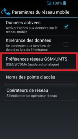 internet Acer android 4 . 2 mode reseau