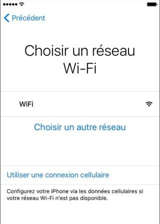 activation iphone etape 3 wifi