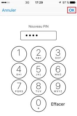contact code pin ecran verrouillage iPhone 6 nouveau pin