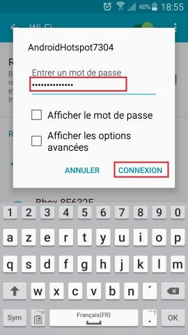 internet Samsung android 5 . x modem mot de passe