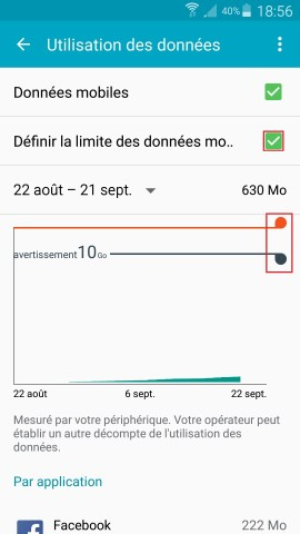internet Samsung android 5 . x-definir-limit-donne