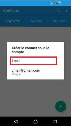contact code pin ecran verrouillage Sony (android 5.1) contact SIM vers tel 3