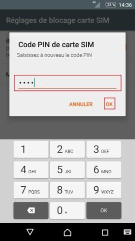 contact code pin ecran verrouillage Sony (android 5.1) réglages nouveau pim 2