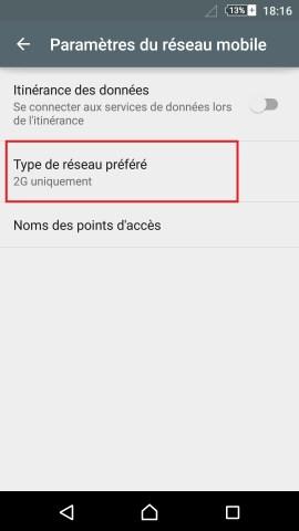 internet Sony android 5 . 1 reglages reseau préféré