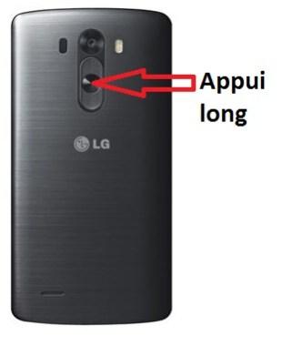 LG G3 bouton allumer
