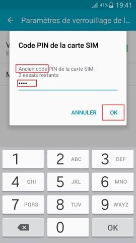 contact code pin ecran verrouillage Samsung android 5 code pin ancien
