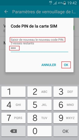 contact code pin ecran verrouillage Acer android 4.2 code pin confimer