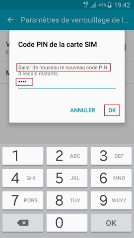 contact code pin ecran verrouillage Samsung android 5 code pin confimer