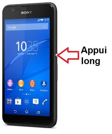 Sony Xperia E4g-allumage