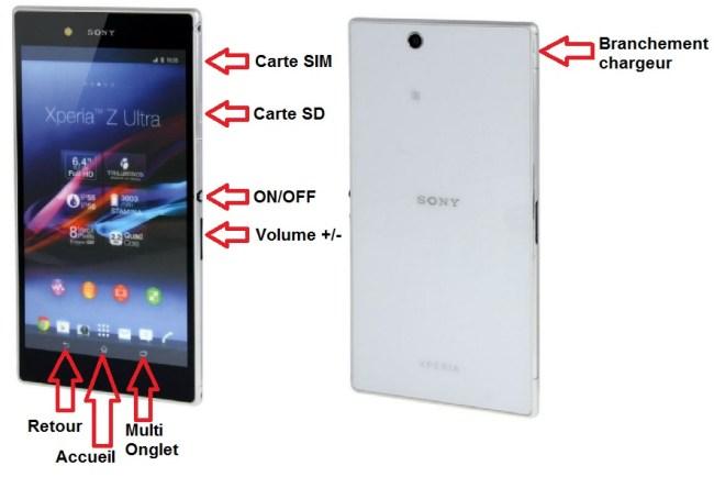 Sony Xperia Z Ultra bouton