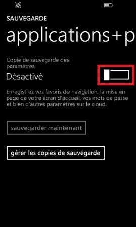 Sauvegarder restaurer mettre à jour son Lumia windows 8.1 activé