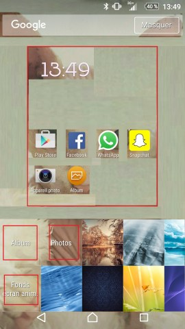 Personnaliser thème sonnerie et fond d'écran (Sony android 6.0) fond ecran 3