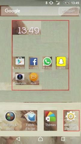 Personnaliser thème sonnerie et fond d'écran (Sony android 6.0) reglages accueil