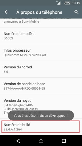 Sony-android-6-numero-de-build