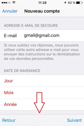 iphone ios9 app store compte creation 2