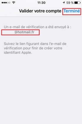 iphone ios9 app store compte fin