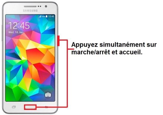 Samsung Galaxy Grand prime screenshot