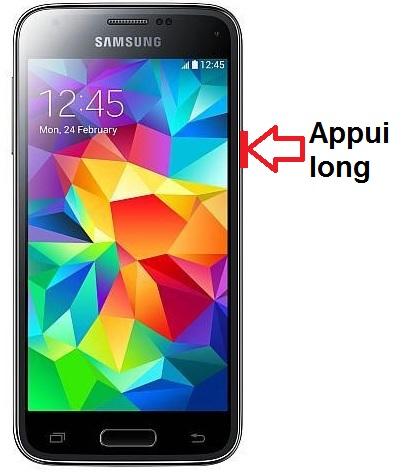 Samsung Galaxy S5 Mini allumage