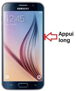 Samsung Galaxy S6 allumage