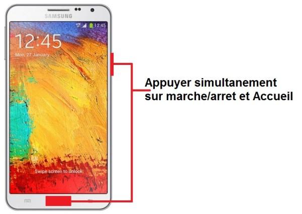 Samsung Galaxy note 3 screenshot