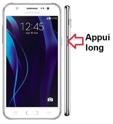 Samsung Galaxy J5 allumage