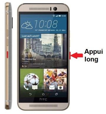 HTC One M9-allumer-eteindre