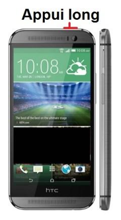 HTC One M8-allumage