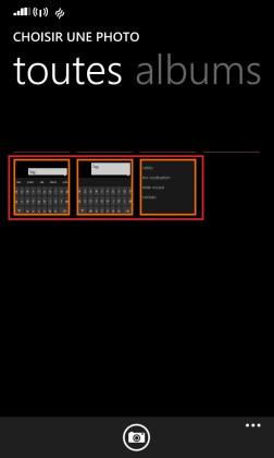 MMS Lumia windows 8.1 sélection photo