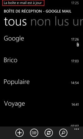mail Lumia windows 8.1 boite mail à jour