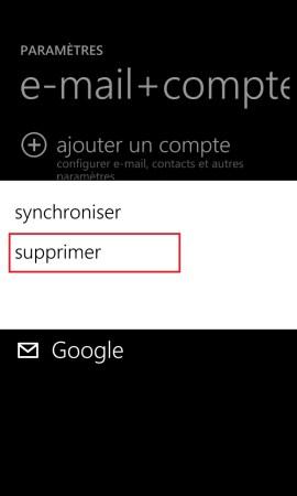 mail Lumia windows 8.1 email suppression compte 2