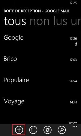 mail Lumia windows 8.1 utilisation email +