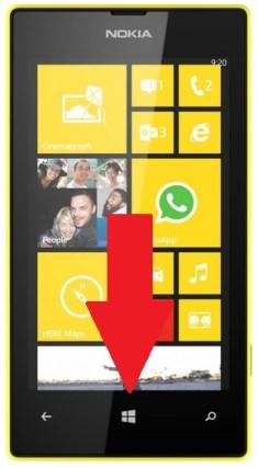 Microsoft Nokia Lumia 520 allumage 2