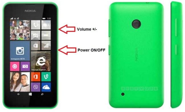 Microsoft Nokia Lumia 530 bouton