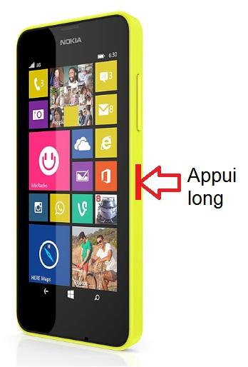 Nokia Lumia 630 allumage