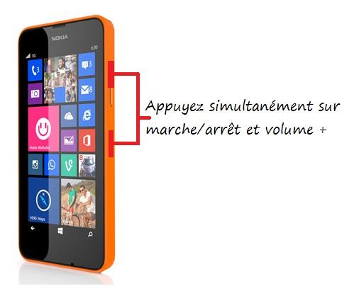 Nokia Lumia 635 capture ecran