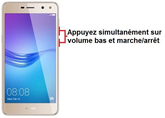 Huawei Y6 2017 capture écran
