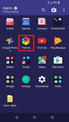 Personnaliser HTC android 6 theme