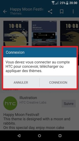 Personnaliser HTC android 7 theme