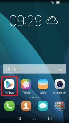 Applications Huawei installation application Playstore