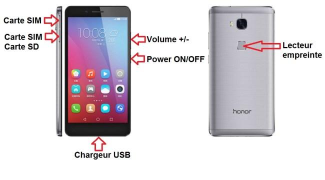 Huawei Honor 5X bouton